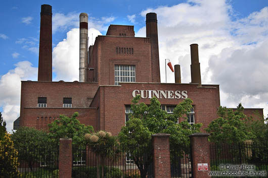 Old Guinness brewery in Dublin