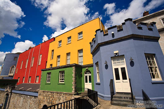 Colourful towers of Dublin Castle