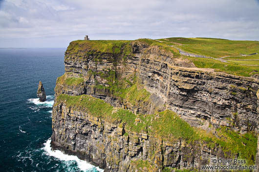 The Cliffs of Moher with O'Brien's tower