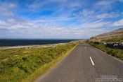 Travel photography:Narrow roads wind along the Clare coastline , Ireland