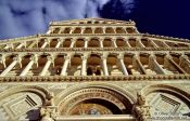 Travel photography:Facade close-up of the Duomo (Cathedral) in Pisa, Italy