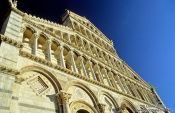 Travel photography:Facade of the Duomo (Cathedral) in Pisa, Italy