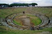 Travel photography:Amphitheatre in Pompeii, Italy