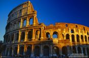 Travel photography:The Coliseum in Rome at sunset, Italy