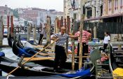 Travel photography:Gondoliere in Venice, Italy