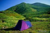 Travel photography:Camping in Shiretoko Ntl Park on Hokkaido, Japan