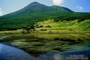 Travel photography:Mountain lake in Shiretoko Ntl Park on Hokkaido, Japan