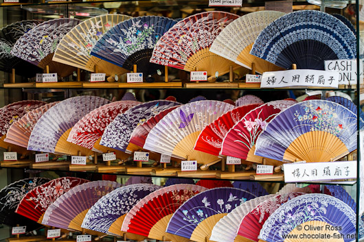Fans for sale in Tokyo Asakusa