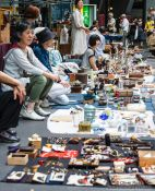 Travel photography:The Tokyo Antiques market, Japan