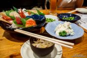 Travel photography:Food in a Tokyo restaurant, Japan