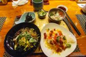 Travel photography:Food in a Tokyo sushi restaurant, Japan
