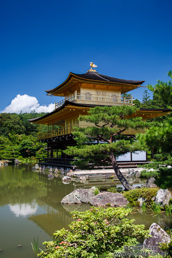 The shariden or Golden Pavilion at Kyoto´s Kinkakuji temple
