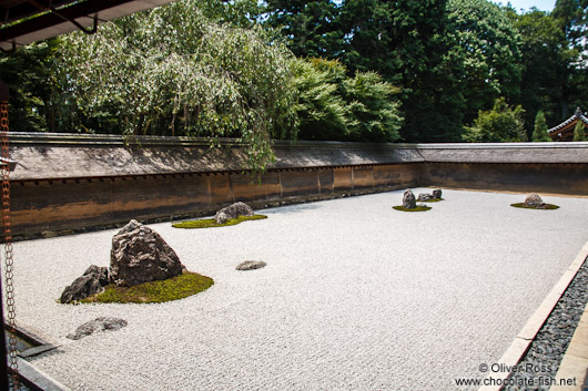 Rock garden at Kyoto´s Ryoanji temple