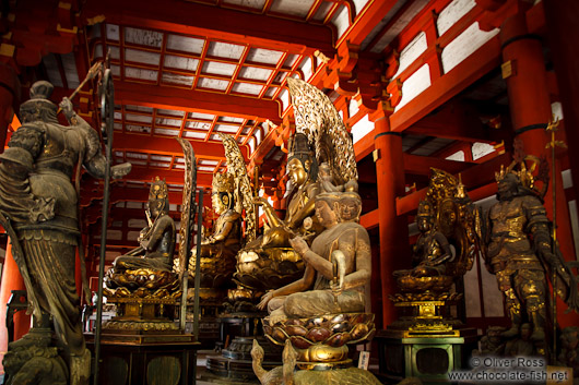 Collection of Buddha statues at Kyoto´s Toji temple