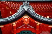 Travel photography:Roof details at Kyoto`s Inari shrine, Japan