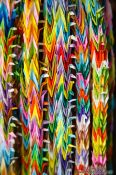 Travel photography:Paper cranes at Kyoto`s Inari shrine, Japan