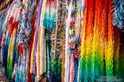 Travel photography:Colourful paper cranes at Kyoto´s Inari shrine, Japan
