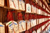 Travel photography:Wooden wish boards at Kyoto´s Inari shrine, Japan