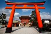 Travel photography:Giat torii at Kyoto´s Inari shrine, Japan