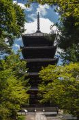 Travel photography:The five-storied pagoda at Kyoto´s Ninnaji temple, Japan