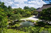 Travel photography:Rock garden and lake at Kyoto´s Ninnaji temple, Japan