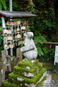 Travel photography:Mouse with scroll sculpture at Kyoto´s Otoyo shrine, Japan