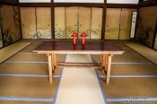 Travel photography:Interior of the Kuri (main temple building) at Kyoto´s Ryoanji temple, Japan