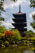 Travel photography:The five-storied pagoda at Kyoto´s Toji temple is the tallest wooden structure in Japan, Japan