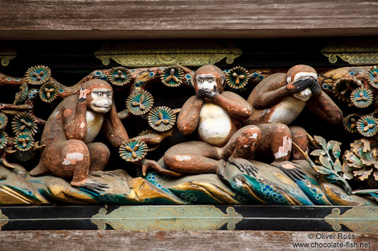 The three wise monkeys at the Nikko Unesco World Heritage site