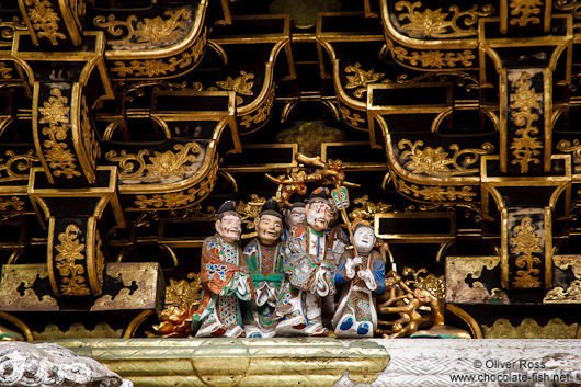 Roof detail of a temple in Nikko