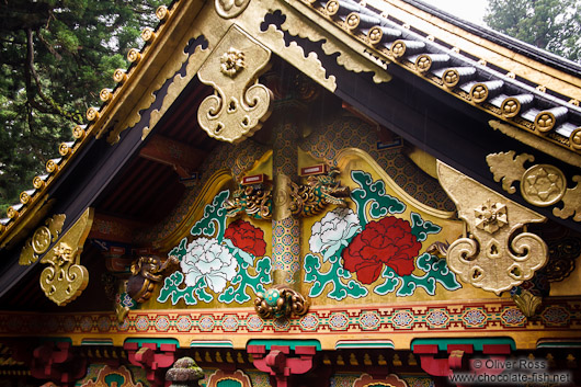 Facade detail at the Nikko Unesco World Heritage site