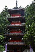 Travel photography:The five-storied pagoda at the Nikko Unesco World Heritage site, Japan