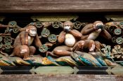 Travel photography:The three wise monkeys at the Nikko Unesco World Heritage site, Japan