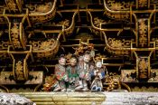 Travel photography:Roof detail of a temple in Nikko, Japan