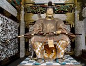 Travel photography:Guardian outside the Nikko temple complex, Japan