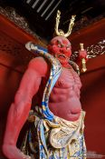 Travel photography:Guardian (thunder god) outside the Nikko temple complex, Japan