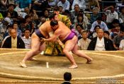 Travel photography:A bout at the Nagoya Sumo Tournament, Japan
