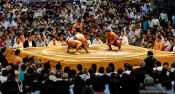 Travel photography:Ring at the Nagoya Sumo Tournament, Japan