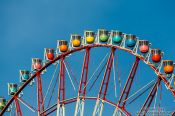 Travel photography:Colourful gondolas of the Tokyo Ferris Wheel, Japan