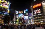 Travel photography:Tokyo´s Shibuya district by night, Japan