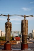 Travel photography:Modern sculptures in Tokyo´s Daiba district, Japan