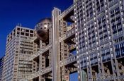 Travel photography:The Fuji TV building in Tokyo, Japan