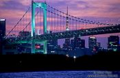 Travel photography:Tokyo Harbour Bridge during sunset with the Tokyo Tower in the background, Japan