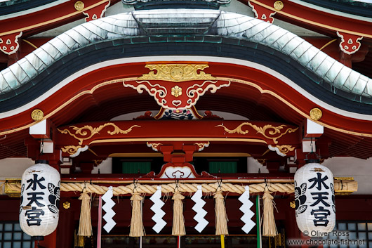 Roof construction at a shrine in Tokyo