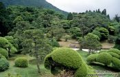 Travel photography:Sculptured garden in Hakone Ntl Park, Japan
