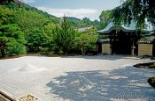 Travel photography:Stone garden in Kyoto, Japan