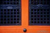 Travel photography:Temple door detail near Tokyo, Japan