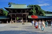 Travel photography:Traditional wedding procession in Tokyo`s Meiji Shrine, Japan