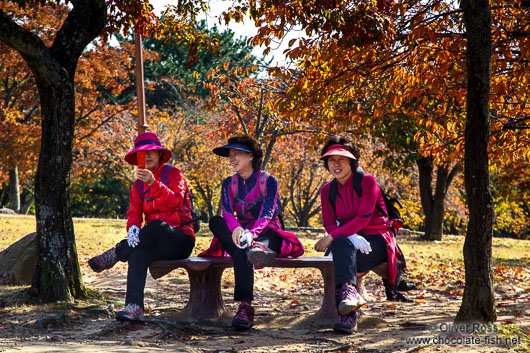 Bulguksa Temple visitors