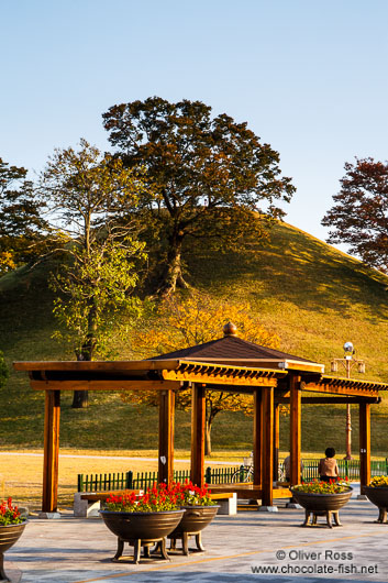 Burial mounds in Gyeongju